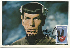 Star Trek & Mr. Spock Film Television Fdc Usa Maximum Card Scott 5135