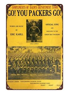 auto shop metal signs 1931 Go You Packers Go Green Bay Packers football tin sign