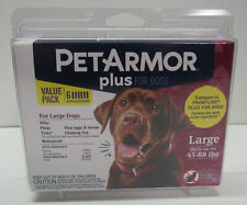 New listing PetArmor Plus Dog Flea and Tick Large Dog 45-88 lbs Squeeze on Treatment