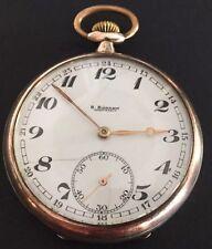 B. BUCKMANN HARPSTEDT German Antique Pocket Watch Sterling Silver Rose Gold