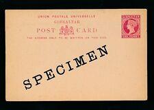 GIBRALTAR QV SPECIMEN 1d POSTAL STATIONERY CARD