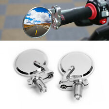 CHROME MOTORCYCLE BAR END MIRRORS FOR CAFE RACER CLUBMAN BOBBER