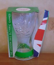 Coca Cola London 2012 Olympics Glass & Green Wristband Coke Boxed (Tatty) Unused