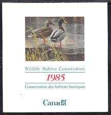 CANADA REVENUE #FWH1 $4 WILDLIFE HABITAT CONSERVATION 1985 BOOKLET