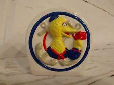 vtg Big Bird Napkin Holder Tooth Brush Holder Henson Muppets Applause Prop