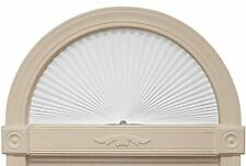 Arch Shade Fabric Light Filtering Sun Screen Pleated For Home House Window White