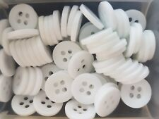 10mm baby shirt button sew on WHITE