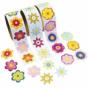 Flower Rolls of Stickers Assortment 300 count