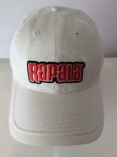 Rapala New Fishing Hat Adjustable White Red Embroidered Logo Sport Cap