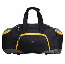 Clubb Unisex Travel / Duffle  / Sports  / Gym Outdoor Bag (Black and Yellow)