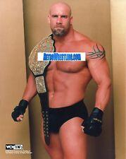Wcw goldberg photo 8x10 avec world heavyweight titre ceinture en photo wwe