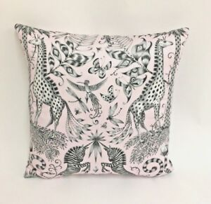 Clarke and Clarke - Kruger - Pink - Cushion Covers - Available In Many Sizes