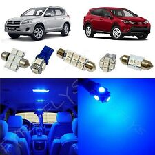 6x Blue LED lights interior package kit for 2006-2013 Toyota RAV4 TR1B