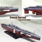 French Surcouf 1/350 non diecast Boat model Ship submarine cruiser