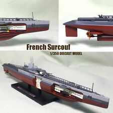 French Surcouf 1/350 non diecast Boat model Ship submarine cruiser