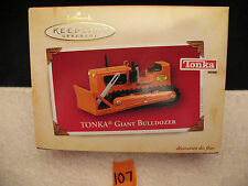 Hallmark Christmas Keepsake Ornament Die Cast Metal TONKA GIANT BULLDOZER 2004