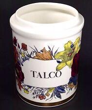 Piero Fornasetti Talco Corisia Vase Storage Canister Flowers NO LID Gold Trim