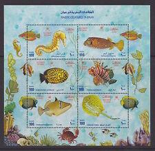 OMAN – 2000 Marine Creatures in Oman miniature sheet of 6,  MNH-VF – Scott 421Fm
