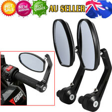 """Universal Motorcycle bike 7/8"""" Bar End Rear Side View Mirrors Cafe Racer AU"""