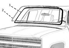 Ford Truck Bronco Windshield weatherstrip  seal with chrome trim 77 78 79