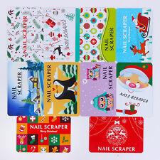 10Pcs/set BORN PRETTY Christmas Xmas Nail Art Scrapers Stamp Card Manicure Tool