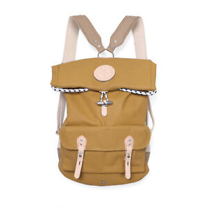 Stighlorgan Reilly Backpack In Yellow Lacquered Canvas with Extending Roll top