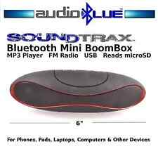 AudioBLUE- Bluetooth Mini Rugby Speaker- MP3-USB-microSD Card Player- Phone/Pads