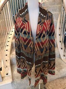 RARE Ralph Lauren Cardigan Aztec Indian Blanket SOUTHWESTERN Cardigan SWEATER X