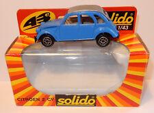 SOLIDO MADE IN PORTUGAL 1980 CITROEN 2CV 6 BLEU REF 1210 1/43 IN BOX
