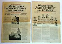Vintage Wisconsin Agriculturist and Farmer Magazine Feb 15 & Feb 29, 1936 Issues