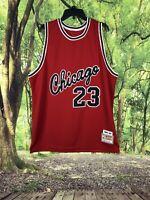 Michael Jordan Chicago Bulls 1984/85 Red Authentic Mitchell & Ness Jersey XXL🔥