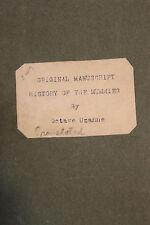1894 Octave Uzanne Manuscrit autographe Histoires de Momies Egypte Bibliophiles