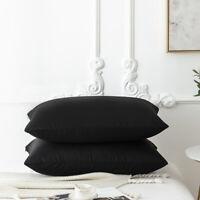 20*30'' Zipper Pillowcases Pillow Cases Shams Covers Soft Standard Size Black