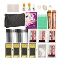 Top Eyelash Salon Extension Pro Kit Set With Lash Glue Adhesive Tweezers & Bag