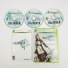 Final Fantasy XIII 13 (Microsoft Xbox 360) 3 Disc with Manual