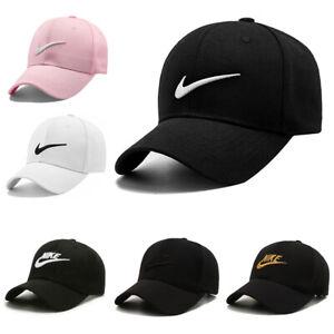 Women Mens NIKE Baseball Caps Swoosh Metal Logo Sports Adjustable Hats