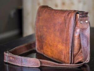 Mens Genuine Vintage Leather Satchel Messenger Man BAGHAND Laptop Briefcase  Bag