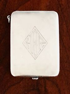- FOSTER & BAILEY STERLING MATCHBOOK COVER OR MATCH SAFE WITH CHATELAINE RING