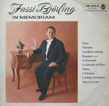 JUSSI BJORLING IN MEMORIAM - (IN ITALIAN)  - LP - MONO