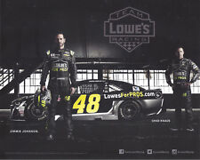 "2018 JIMMIE JOHNSON ""LOWES FOR PROS 2 OF 2"" #48 NASCAR MONSTER ENERGY POSTCARD"