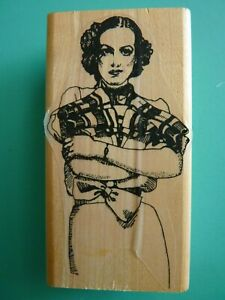 Retro Woman With Arms Folded VIVA LAS VEGASTAMPS Rubber Stamp