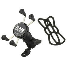 RAM-B-272-A-UN7 Ram Mounts Angled Motorcycle Mount with Universal X-Grip Cradle