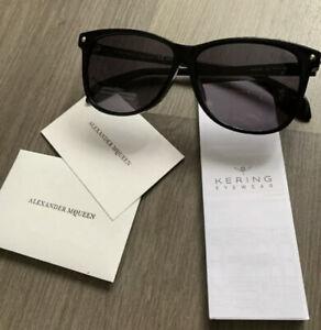 New Alexander Mcqueen AM0099SA 001 Sunglasses Black Grey