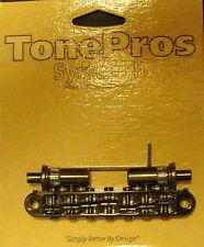 TP7-B TonePros 7 String Metric Tune-o-Matic Bridge (large posts) Black Finish