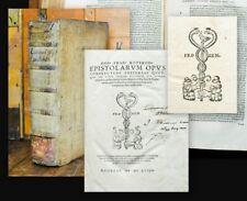 1558 Erasmo da Rotterdam epistolarum Opus Folio Pelle Maiale pigskin 4th ed