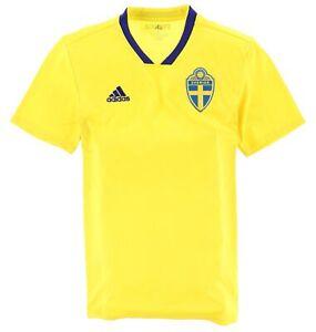 Adidas Herren Trikot Jersey Gr.L Schweden Sweden Climalite 2018/19 Gelb 114562