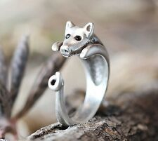 Pig Ring Women's Girl's Retro Burnished Unique Animal Miniature Funny Ring