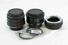Lot 2 Lens 28mm F2.8 50mm F1.7 for SONY NEX e-mount MD adapted bundle TESTED