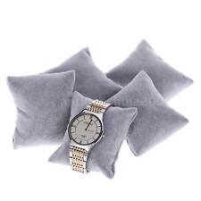 Set of 5 Grey Velvet Watch Bracelet Pillows Cushions for Case Box Display G2G3