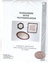 """Hardanger with Watercolors"" 3 Designs by Carolyn Hook 1990 Waterlilies"